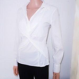 #794 Alfani Petite Tie Front Blouse 12P Medium